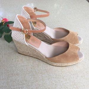 Kanna 8 Espadrilles Wedge Shoes Peep Toe Anthro